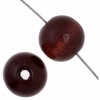 Wooden Bead Round 10mm Mahogany